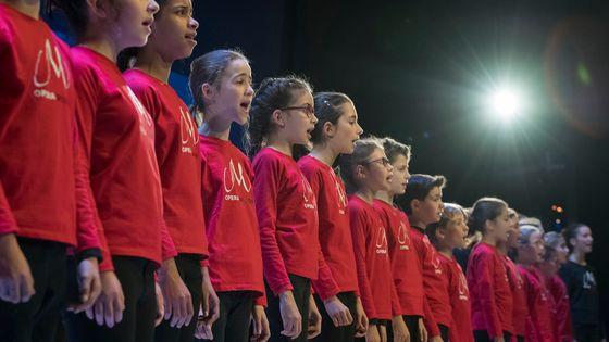 La Maîtrise de l'Opéra de Lyon suit les cours de formation musicale selon la pédagogie Kodaly