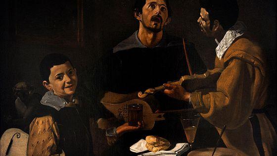 Les musiciens, tableau de Diego Velazquez (1599-1660).