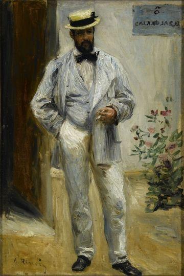 Portraits de Charles Le Coeur par Auguste Renoir, huile sur toile, 1874