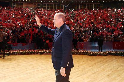 Recep Tayyip Erdogan lors de son intervention publique samedi 4 mars 2017