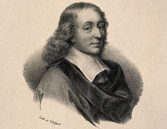 Lithographie de Blaise Pascal