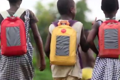 Capture écran de la vidéo de présentation du cartable solaire de Solarpak