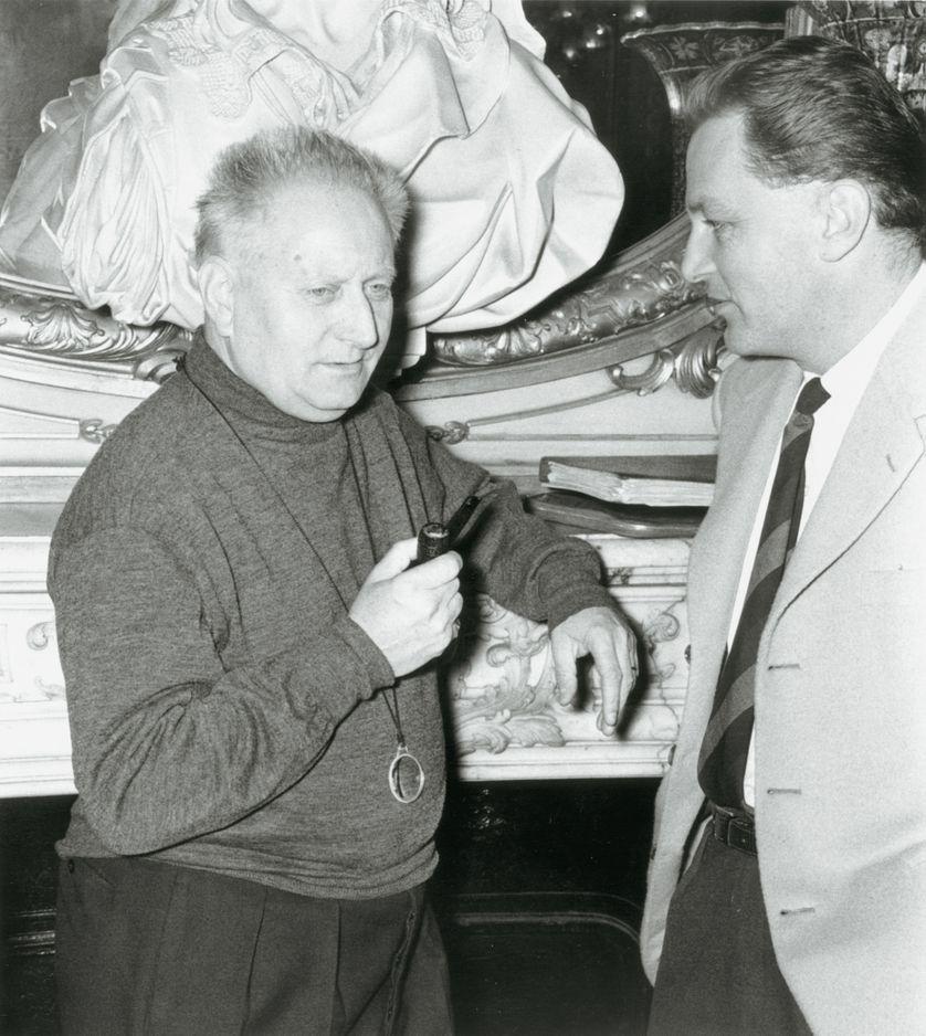 Jean Giono et François Chalais : © Daniel Fallot, Ina.
