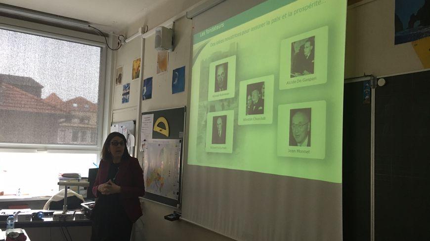 Petit rappel sur les pères fondateurs de l'Europe avec une classe de CM2 de l'école de la Miséricorde, à Metz