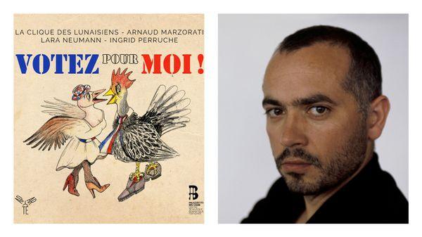 """Arnaud Marzorati, directeur artistique de La Clique des Lunaisiens, présente leur dernier album """"Votez pour moi"""""""
