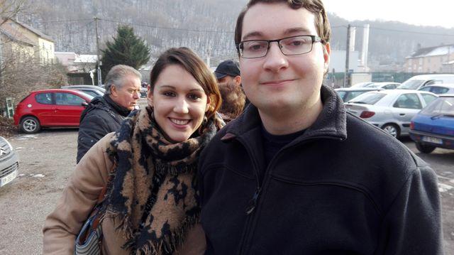 Léonie Cugnot et Jeremy Navion, militants FN