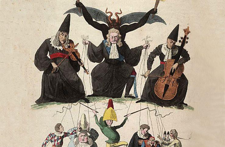 Caricature de 1815 dénonçant le Cabinet noir