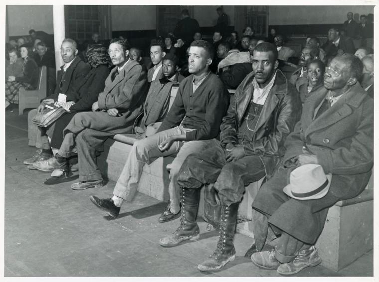 """Procès d""""un accident de voiture, Comté de Granville, Caroline du Nord. Novembre 1939."""