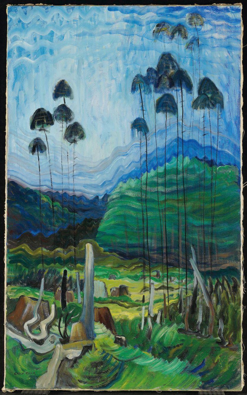 EMILY CARR (Victoria, Canada, 1871 – 1945). Arbres dans le ciel (Trees in the Sky), 1939. Huile sur toile : 111,6 × 68,7 cm. Toronto, Art Gallery of Ontario, don de Richard M. Ivey, 2008, 2008/224