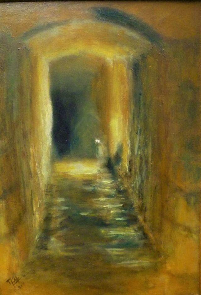 L'une des peintures de Marie. Les souterrains parisiens sont devenus une de ses principales inspirations