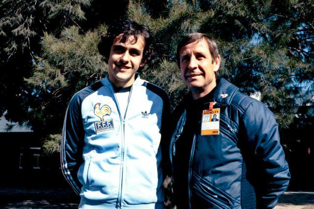Michel Platini et Raymond Kopa