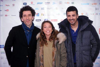 """Laura Smet, Laurent Perreau et Samir Guesmi, lors de la présentation de """"La Bête curieuse"""" au Festival des créations audiovisuelles de Luchon"""