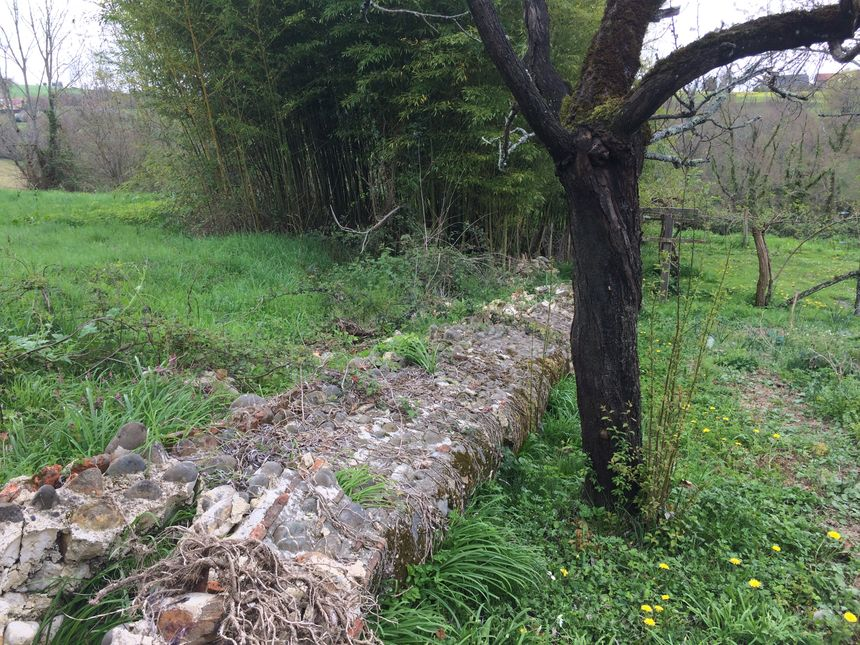 Le mur du potager est par terre