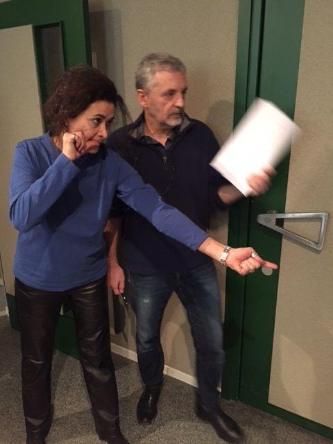 Répétition Darina Al Joundi (Leila) et Pascal Deux (réalisateur)