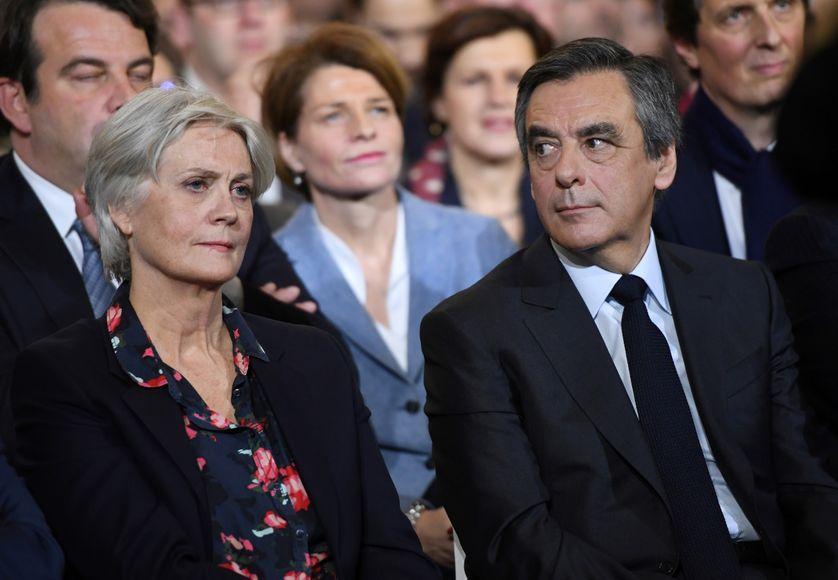 Pénélope et François Fillon à Paris le 29 janvier 2017