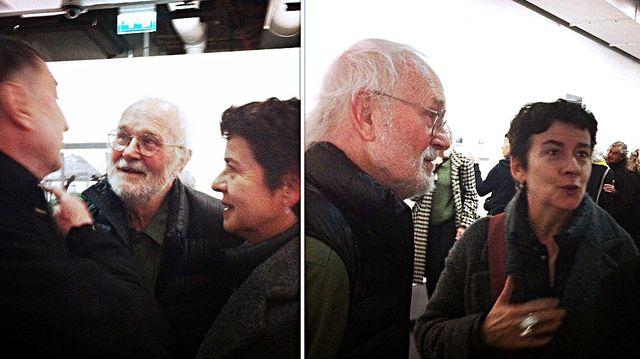 Rencontre entre  Josef Koudelka, Michel Frizot et Brigitte Patient lors du vernissage de l'exposition