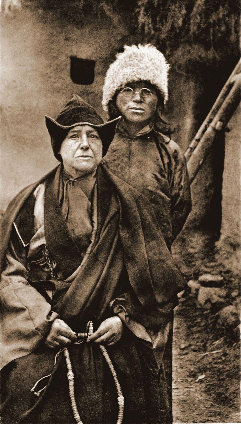 Alexandra et Yongden, au Tibet septentrional, vers 1920-1923, Maison A. David-Neel, Digne-les-Bains