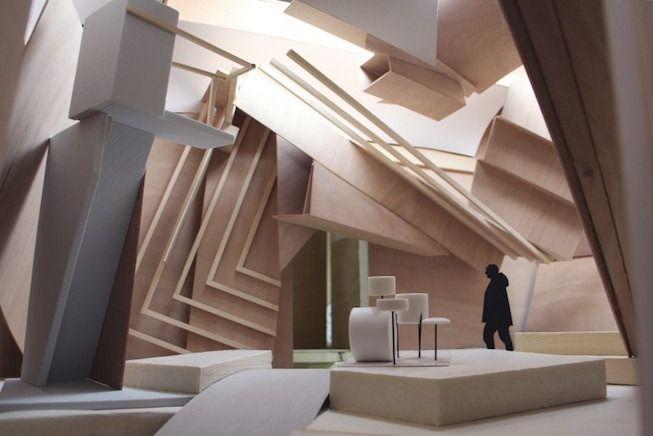 Studio Venezia, maquette préparatoire (détails)