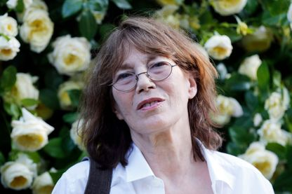 Jane Birkin au jardin des Tuileries à Paris le 4 juin 2015, à l'occasion du baptême de la rose Amnesty Internationale