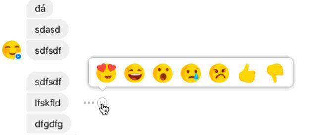Les nouvelles réactions dans Messenger