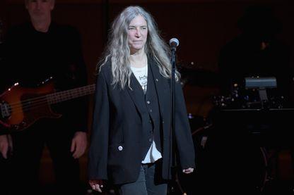 Patti Smith pendant pendant le concert et gala de bienfaisance du 30ème anniversaire du Tibet House à l'occasion du 80ème anniversaire de Philip Glass le 16 mars 2017 à New York.