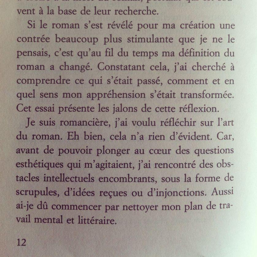 """Extrait de """"Rouvrir le roman"""" de Sophie Divry, p. 12"""