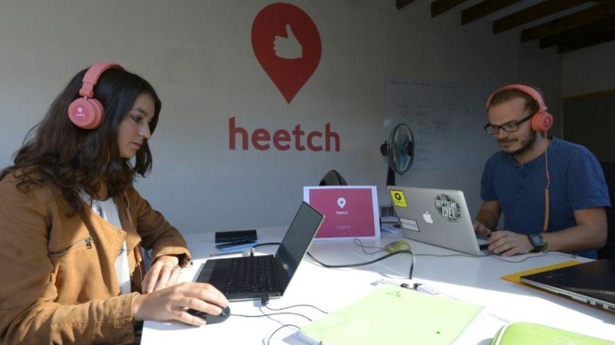 Dans les bureaux de la start-up Heetch à Paris
