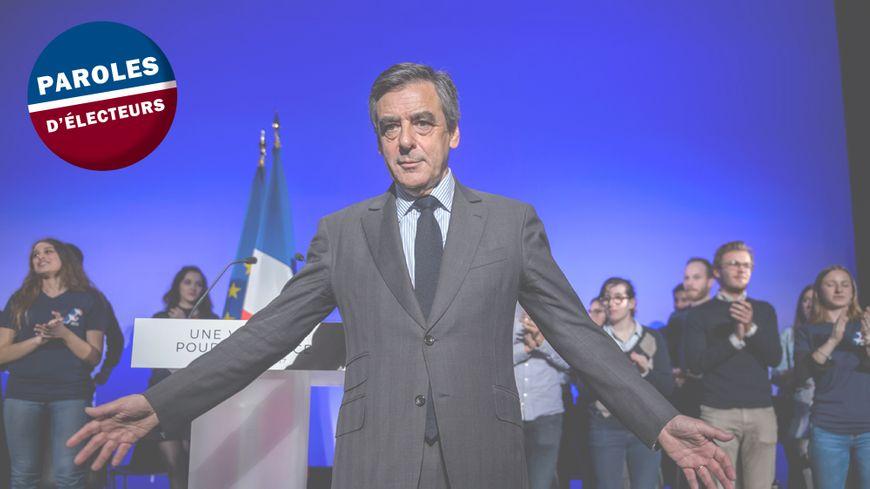 François Fillon, le candidat de la droite, lors d'un meeting pour l'élection présidentielle 2017.