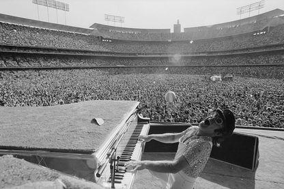 En concert au stade Dodger à Los Angeles, Octobre 1975