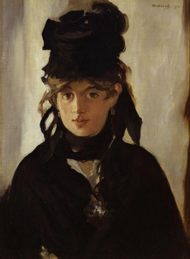 """""""Berthe Morisot au bouquet de violettes"""" peinte par Manet"""