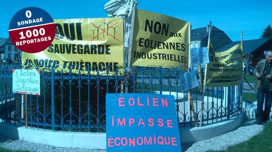 Les manifestants veulent stopper les projets de parcs éoliens en Thiérache