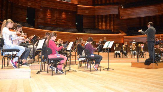 Première répétition du projet Dianoura à l'Auditorium de Radio France avec l'Orchestre à l'école