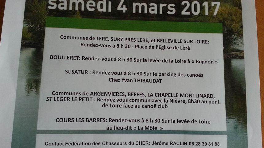 La liste des points de ralliement si vous souhaitez participer à l'opération Loire Propre.