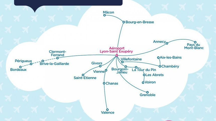 Ouibus crée 18 navettes locales pour desservir l'aéroport de Lyon-St Exupéry, dont une avec Valence, dans la Drôme.
