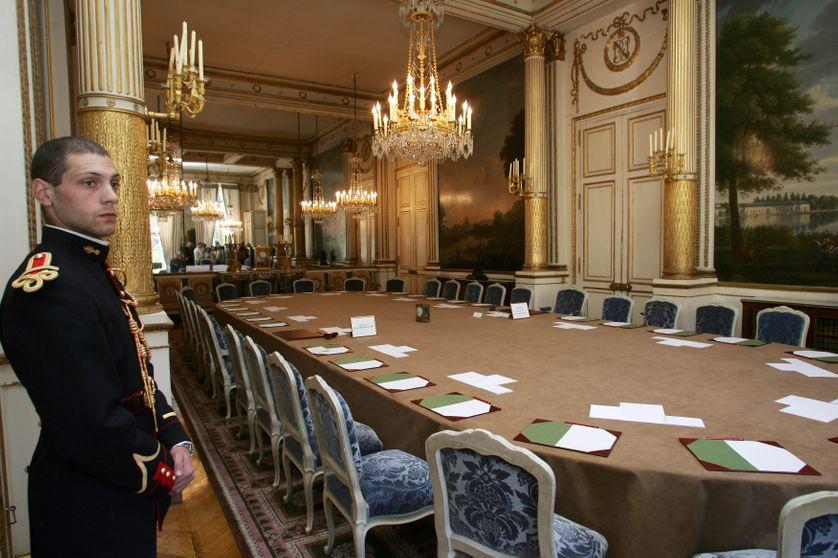 Le salon Murat, à l'Elysée, où se déroule le conseil des ministres.