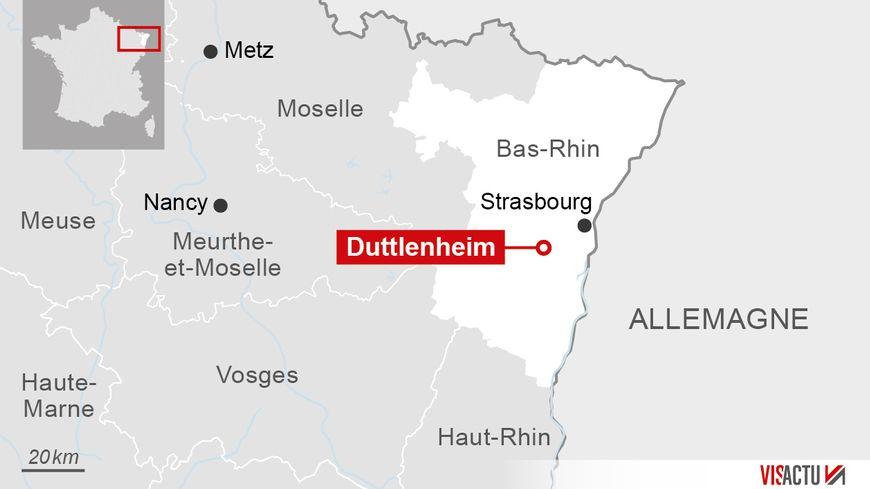 L'octogénaire agressée habite Duttlenheim dans le Bas-Rhin.