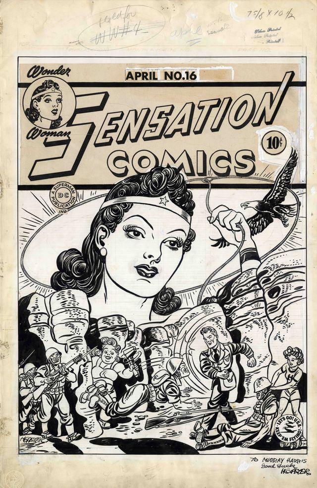 Wonder Woman dessinée en 1943 par Harry G. Peter