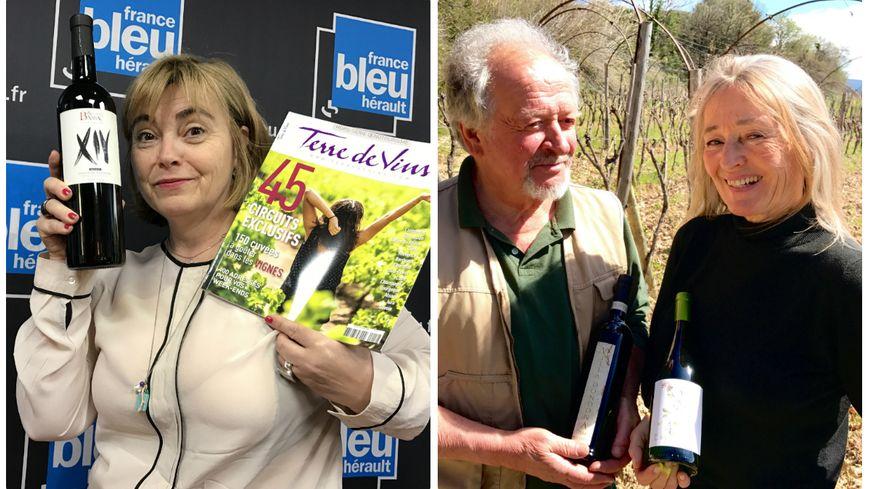 Sylvie Tonnaire la red' chef de Terre de Vins, André Suquet et Jo Lynch de Villa Dondona