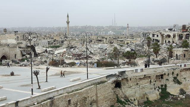 Alep, vue depuis la Citadelle