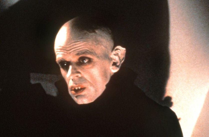 """Klaus Kinski dans le rôle de Dracula dans le film """"Nosferatu"""" de Werner Herzog."""