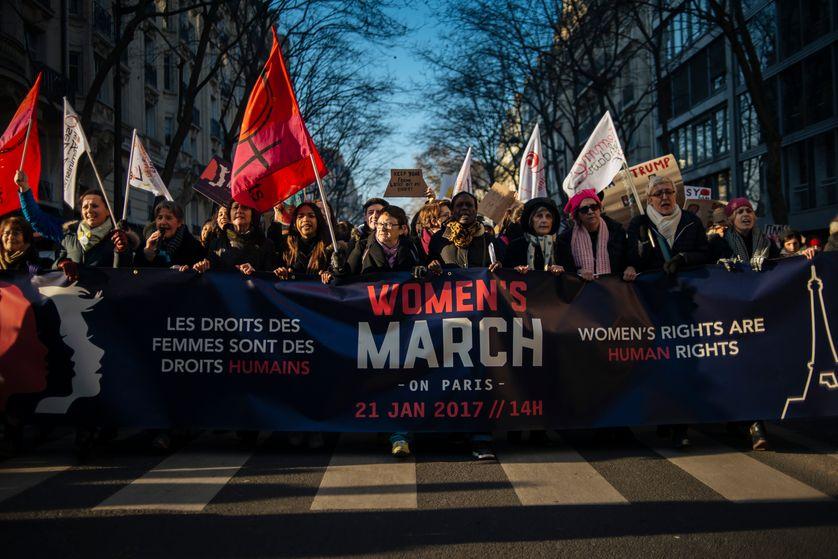 Women's March à Paris le 21 janvier 2017
