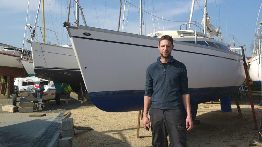 Hervé Boulet le gérant du chantier naval Saint-Samson Plaisance à Plouër-sur-Rance
