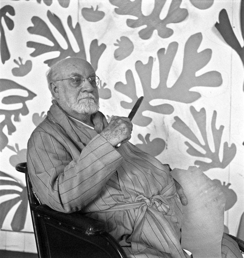Henri Matisse au Regina, à Nice, 1952