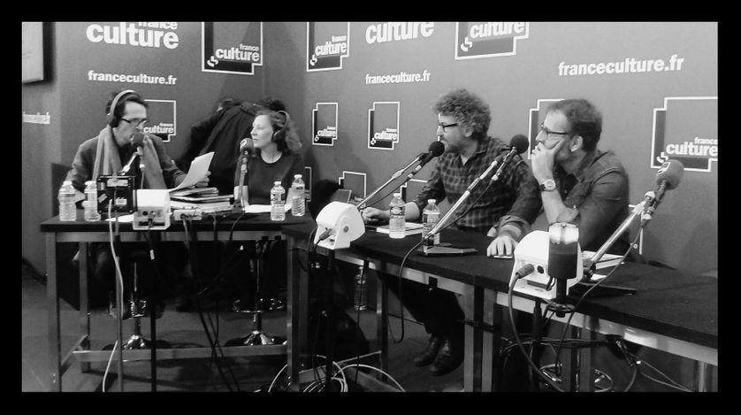 De gauche à droite Antoine Guillot, Charlotte Garson, Rémi Lucas et Christophe Blain au Livre Paris