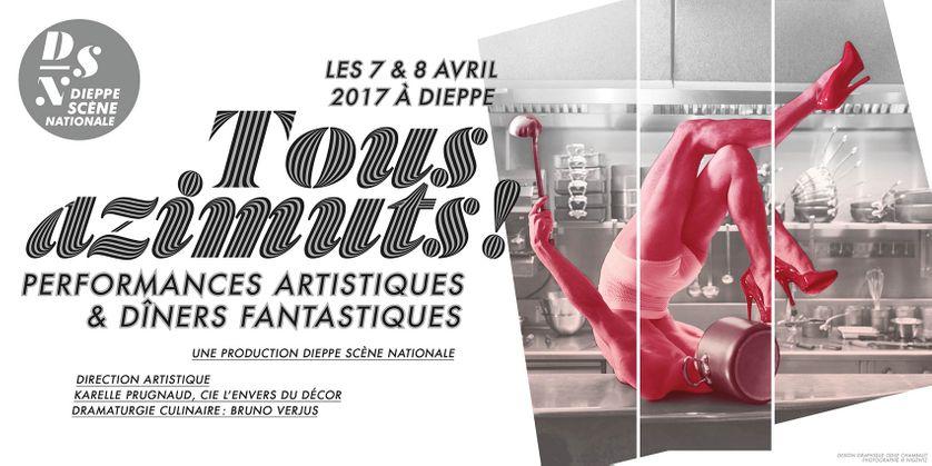 """Affiche du festival """"Tous azimuts!"""" de Dieppe"""
