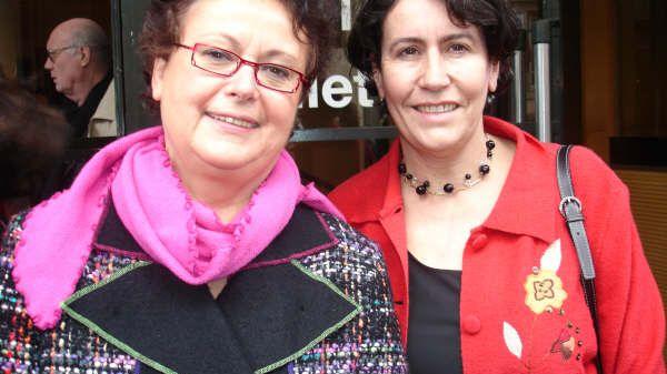 Marie-Claire Danen, déléguée régionale du Parti Chrétien Démocrate (PCD) ici aux côtés de sa fondatrice, Christine Boutin (en 2007)