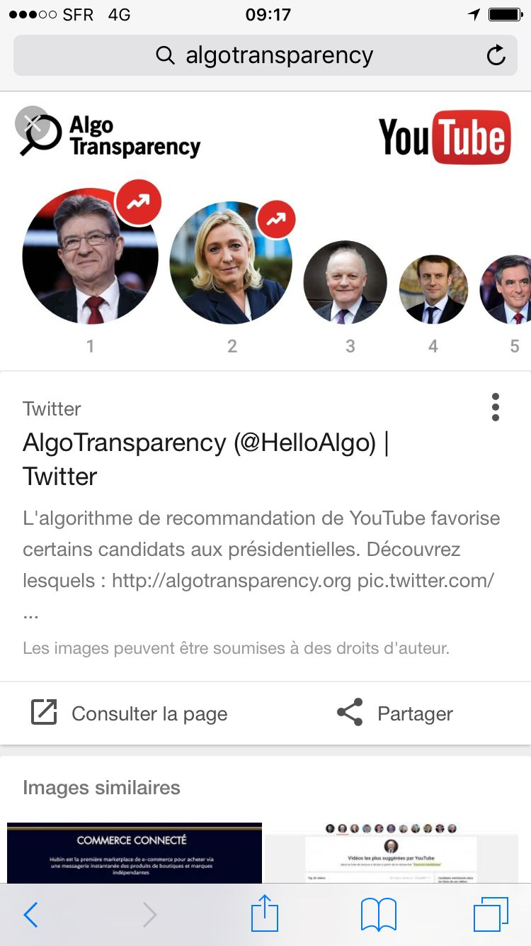 AlgoTransparency, une initiative de l'association Data for Good