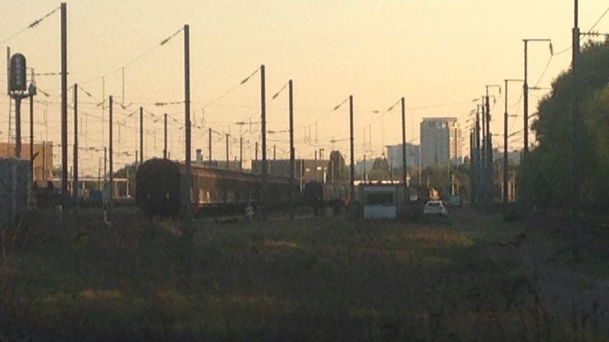 La gare de triage où s'est déroulé le drame à la gare de triage du Grand Blottereau