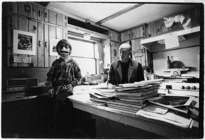 Photo de famille de Juan F. Thompson avec son père, Hunter S. Thompson