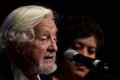 Marc Augé, durant une conférence sur son dernier livre au Muséum National d'Anthropologie à Mexico, le 23 septembre 2016